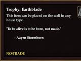 Trophy: Earthblade