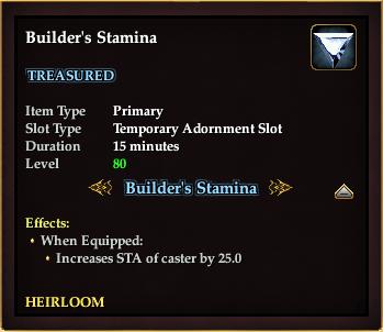 Builder's Stamina (Version 2)