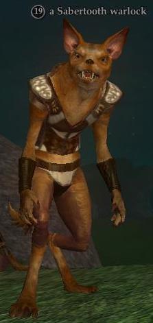 A Sabertooth warlock