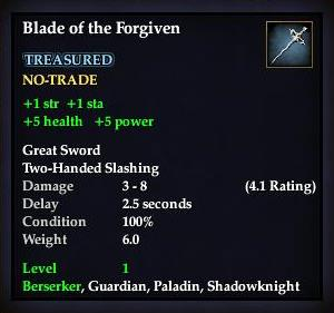 Blade of the Forgiven