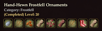 Hand-Hewn Frostfell Ornaments