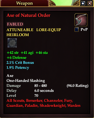 Axe of Natural Order (Version 1)