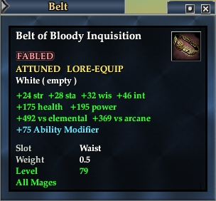 Belt of Bloody Inquisition (Level 79)