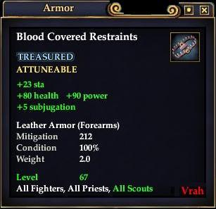 Blood Covered Restraints