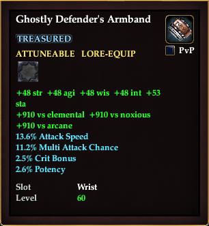 Ghostly Defender's Armband (Level 62)