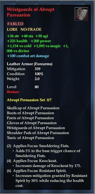 Wristguards of Abrupt Pursuasion