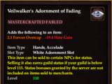 Veilwalker's Adornment of Fading (Collection Reward)