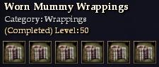 Worn Mummy Wrappings