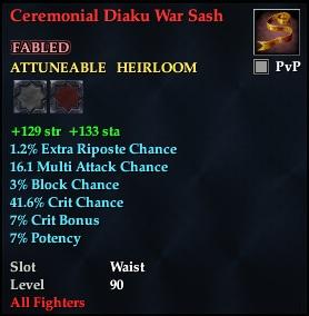 Ceremonial Diaku War Sash