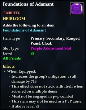 Foundations of Adamant (92, Heirloom, purple, Fabled) (Crate Reward)