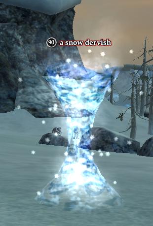 A snow dervish
