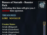 Bosses of Norrath - Booster Pack
