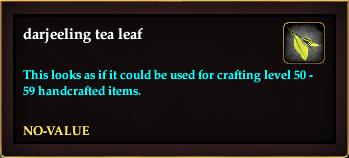 Darjeeling tea leaf (Crate Reward)