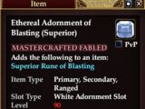 Ethereal Adornment of Blasting (Superior)