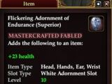 Flickering Adornment of Endurance (Superior)