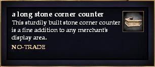 A long stone corner counter