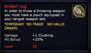 Bag of Broken Cogs (Level 70)