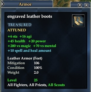 Engraved leather boots