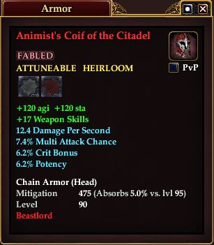 Animist's Coif of the Citadel