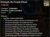 Kristoph, the Purple Dread
