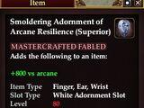 Smoldering Adornment of Arcane Resilience (Superior)