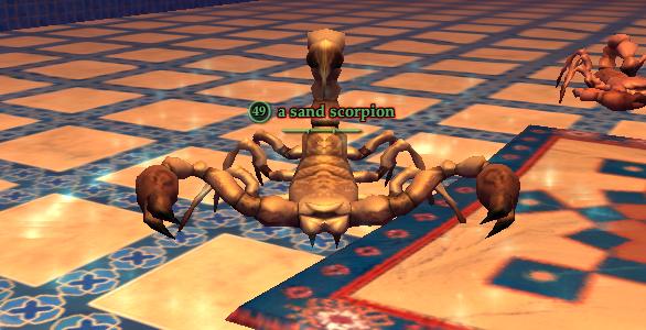 A sand scorpion