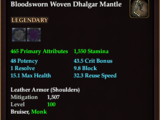 Bloodsworn Woven Dhalgar Mantle