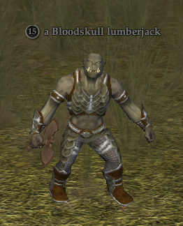 A Bloodskull lumberjack
