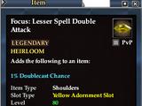 Focus: Lesser Spell Double Attack