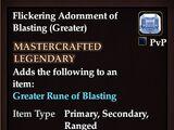 Flickering Adornment of Blasting (Greater)