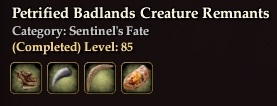 Petrified Badlands Creature Remnants