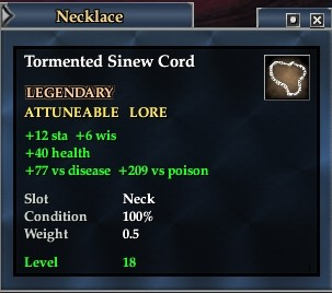 Tormented Sinew Cord