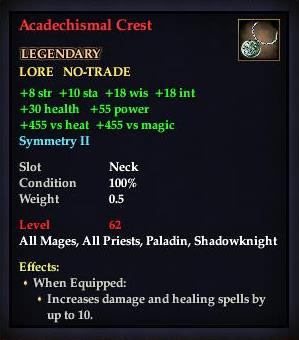 Acadechismal Crest (Level 62)