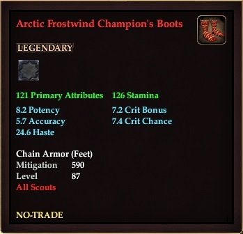 Arctic Frostwind Champion's Boots