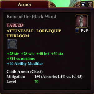 Robe of the Black Wind