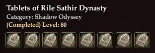 Tablets of Rile Sathir Dynasty