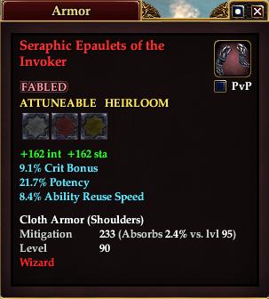 Seraphic Epaulets of the Invoker