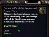 Common Deathfist Darkruned Armor Plans