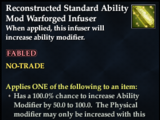 Reconstructed Standard Ability Mod Warforged Infuser