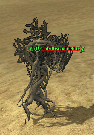 A driftwood defiler