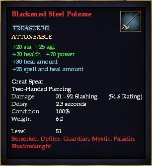 Blackened Steel Poleaxe (Version 1)