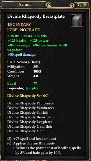 Divine Rhapsody Breastplate (Level 77)