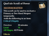 Quel'ule Scroll of Power