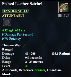 Etched Leather Satchel (Level 30) (Crafted)