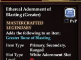 Ethereal Adornment of Blasting (Greater)