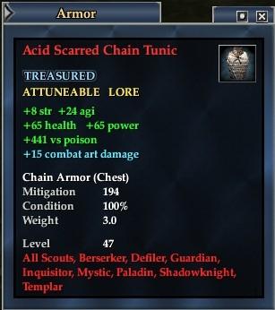 Acid Scarred Chain Tunic