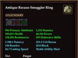 Antique Recuso Smuggler Ring