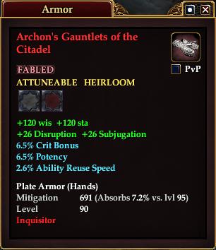 Archon's Gauntlets of the Citadel
