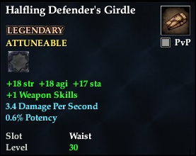 Halfling Defender's Girdle