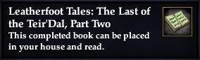 Leatherfoot Tales: The Last of the Teir'Dal, Part Two